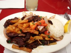 The dish I dream about for days after eating: Mario's Lomo Saltado.