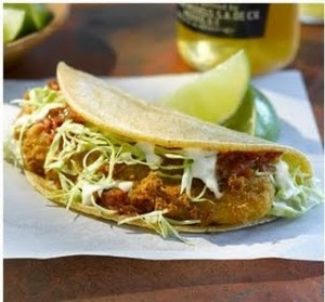 The dish that made them famous: the battered and fried fish taco.