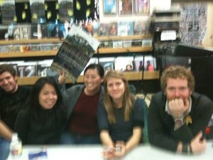 Just me and Monster and The Swell Season (and some dude who works at Fingerprints -- lucky).